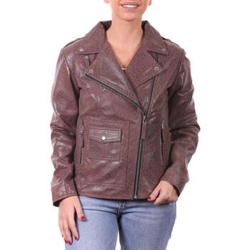 Vêtements Vestes en cuir / synthétiques Ladc Mylène Tigre Marron