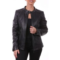 Vêtements Vestes en cuir / synthétiques Ladc Irina Noir Noir