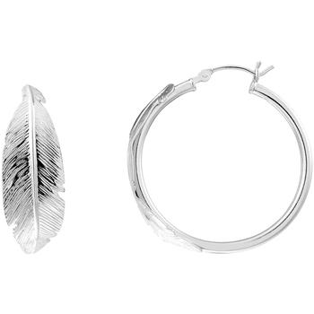 Montres & Bijoux Femme Boucles d'oreilles Cleor Créoles  en Argent 925/1000 Blanc Blanc