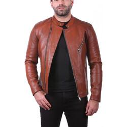 Vêtements Homme Vestes en cuir / synthétiques Ladc Jason Mystick Orange Orange
