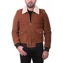 Vêtements Homme Vestes en cuir / synthétiques Ladc Garros Velours Tabac Tabac