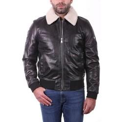 Vêtements Homme Vestes en cuir / synthétiques Ladc Gary Col Noir Noir