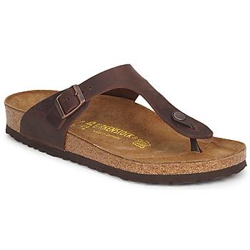 Chaussures Femme Tongs Birkenstock GIZEH PREMIUM Marron