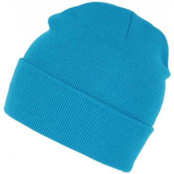 Accessoires textile Bonnets Nyls Création Bonnet Bleu Ciel Tendance et Confort en Laine avec Revers Eric Bleu