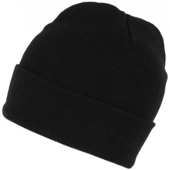 Accessoires textile Bonnets Nyls Création Bonnet Noir en Laine Tendance et Confort avec Revers Eric Noir