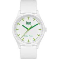Montres & Bijoux Montres Analogiques Ice Watch Montre  ICE SOLAR en Plastique Blanc Blanc