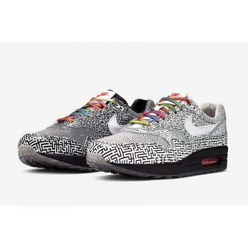 Chaussures Baskets basses Nike nike air thea lime gold green metallic car paint Tokyo Maze White/Black-Multi-Color