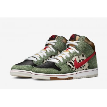 Chaussures Baskets montantes Nike SB Dunk High Dog Walker  Multicolor/Multicolor
