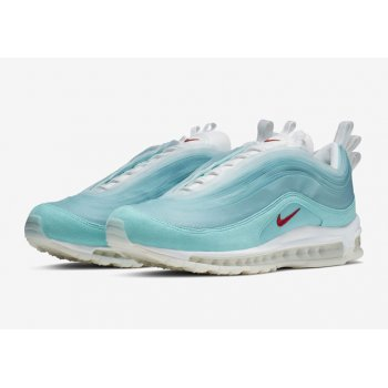 Chaussures Baskets basses Nike Air Max 97 Shanghai Kaleidoscope Icy Blue/Red-White