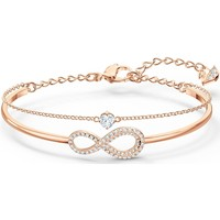 Montres & Bijoux Femme Bracelets Swarovski Bracelet Jonc et Chaîne  Infinity Rose