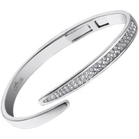 Montres & Bijoux Femme Bracelets Lotus Jonc  ouvert acier et cristal Blanc