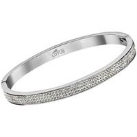 Montres & Bijoux Femme Bracelets Lotus Jonc  acier et cristal Blanc