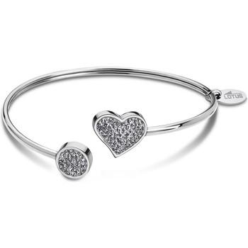 Montres & Bijoux Femme Bracelets Lotus Jonc  motif coeur cristal Blanc
