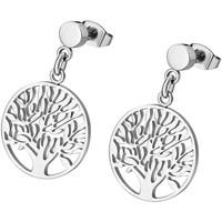 Montres & Bijoux Femme Boucles d'oreilles Lotus Boucles d'oreilles  arbre de vie Blanc