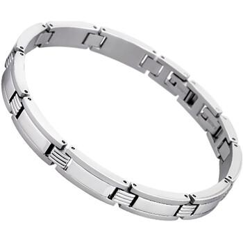 Montres & Bijoux Homme Bracelets Lotus Bracelet  homme tout acier Blanc