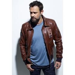 Vêtements Homme Vestes en cuir / synthétiques Daytona OCEANIE SHEEP PETROL BISON Bison