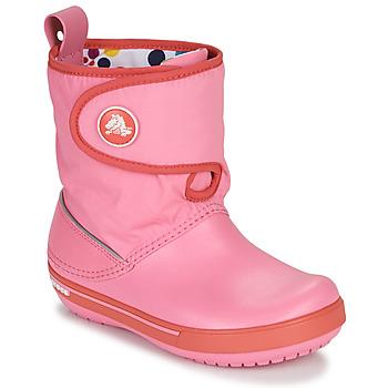 Chaussures Enfant Bottes de neige Crocs CROCBAND ll.5 GUST BOOT KIDS PLEM PPY Rose