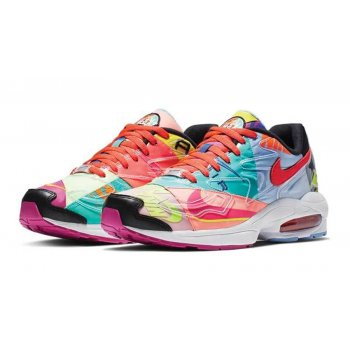 Chaussures Baskets basses Nike Air Max 2 Atmos Black/Bright Crimson