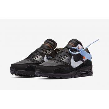 Chaussures Baskets basses Nike Air Max 90 x Off White Black Cone Black/Black-Cone-White