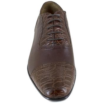 Chaussures Homme Richelieu J.bradford JB-SARDEGNA CROCO MARRON Marron