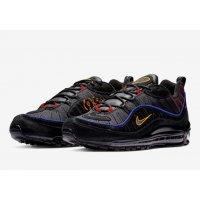 Chaussures Baskets basses Nike Air Max 98 Black Amarillo Black/Black/Amarillo/University Red