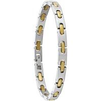Montres & Bijoux Homme Bracelets Jourdan Bracelet  bicolore Blanc