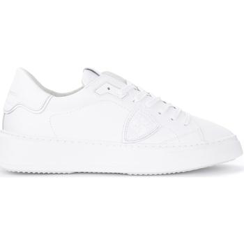 Chaussures Homme Baskets mode Philippe Model Baskets Temple L en cuir blanc Blanc