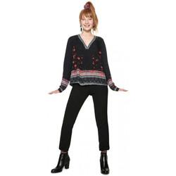 Vêtements Femme Pulls Desigual Top Blouse Femme Louise Noir 18WWBW39 (rft) Noir