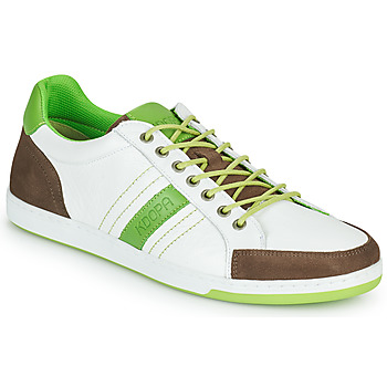 Chaussures Homme Baskets basses Kdopa MARIANO Blanc / Vert