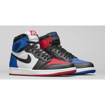 Chaussures Baskets montantes Nike Air Jordan 1 High Top 3 Black/Sail-University Blue-Varsity Red