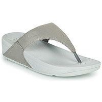 Chaussures Femme Tongs FitFlop LULU SHIMMER TOE POST Argenté