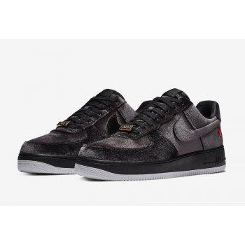 Chaussures Baskets basses Nike Air Force 1 Low Black Velvet Black/Black/White