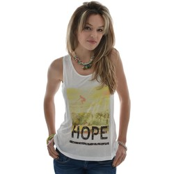 Vêtements Femme T-shirts manches courtes Only tee shirt  beach tank top blanc blanc