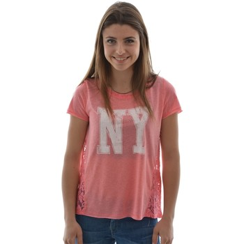 Vêtements Femme T-shirts manches courtes Only tee shirt  onllike lace s/s top jrs pl85/lin15 bubblegum non définie