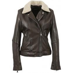Vêtements Femme Blousons Oakwood Blouson  Follower en cuir ref_50427 Marron Marron
