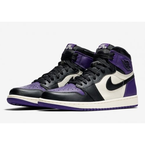 Nike Air Jordan 1 High Court Purple 1.0 Court Purple/Sail-Black ...