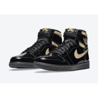 Chaussures Baskets montantes Nike Air Jordan 1 High Black Metallic Black/Black-Metallic Gold