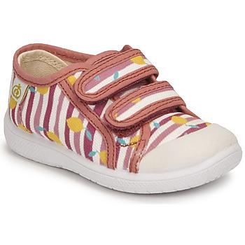 Chaussures Fille Baskets basses Citrouille et Compagnie GLASSIA Rose imprimé