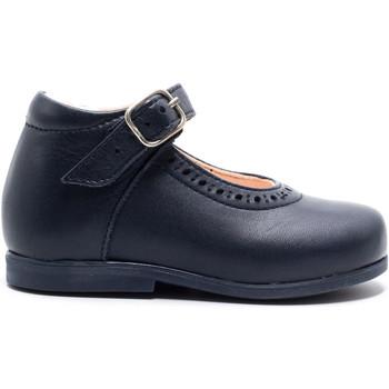 Chaussures Fille Ballerines / babies Boni & Sidonie Babies haute en cuir à boucle - ISABELLE Bleu Marine