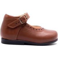 Chaussures Fille Ballerines / babies Boni & Sidonie Babies haute en cuir à boucle - ISABELLE Marron