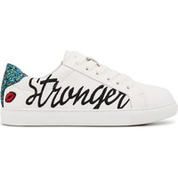 Chaussures Femme Baskets basses Bons Baisers De Paname Simone Stronger Together BLANC
