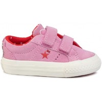Chaussures Enfant Baskets basses Converse Chaussures Sportswear Baby  One Star 2v Ox Hello Kitty Rose