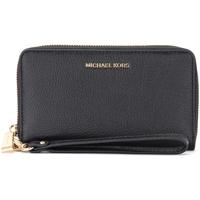 Sacs Femme Portefeuilles MICHAEL Michael Kors Portefeuille poignet noir avec porte-smartphone Noir