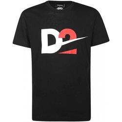 Vêtements Homme T-shirts manches courtes Dsquared S74GD0728 Noir