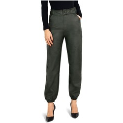 Vêtements Femme Pantalons fluides / Sarouels Kebello Pantalon jogger en simili Taille : F Vert S Vert