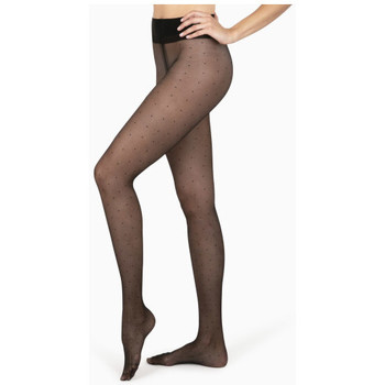 Sous-vêtements Femme Collants & bas Le Bourget Collants Plumetis NOIR