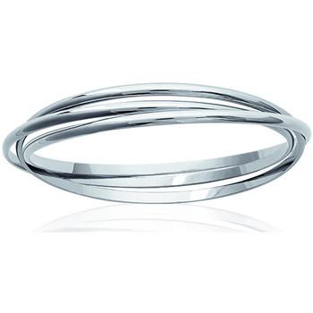 Montres & Bijoux Femme Bracelets Brillaxis Jonc  argent 3 anneaux Blanc