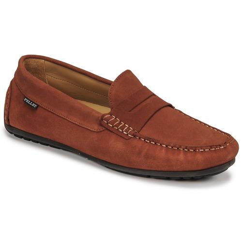 Chaussures Homme Mocassins Pellet CADOR Rouge