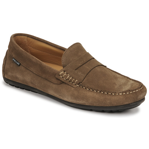 Chaussures Homme Mocassins Pellet CADOR Taupe