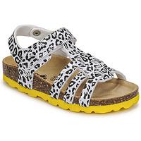 Chaussures Fille Sandales et Nu-pieds Citrouille et Compagnie JANISOL Léopard blanc/noir